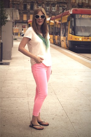 hot pink skinny jeans Topshop pants