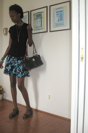 forever 21 top - H&M skirt - purse - shoes