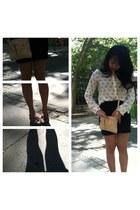 Zara blouse - Marc Jacobs purse - pencil skirt brandy melville skirt