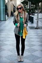 floral print piperlime shirt - suede Target boots - faux leather asos leggings