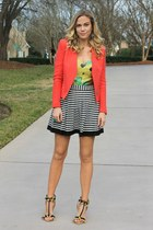 tweed Target jacket - print asos top - striped Forever 21 skirt
