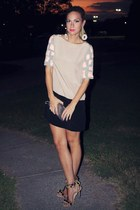 sequin Tibi dress - flower asos earrings - pom pom asos heels
