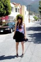 American Apparel skirt - Andrea shoes - Guess top - Zara purse - Zara tights