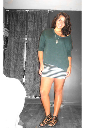 black Dirty Laundry shoes - white Forever 21 skirt - Forever 21 sweater - silver