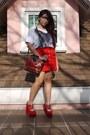 White-oversized-bangkok-shirt-ruby-red-vintage-bag-red-topshop-skirt-ruby-