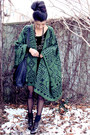 Black-american-apparel-dress-forest-green-dolce-vita-cape