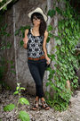 Beige-h-m-hat-black-urban-outfitters-shirt-brown-jones-new-york-belt-black