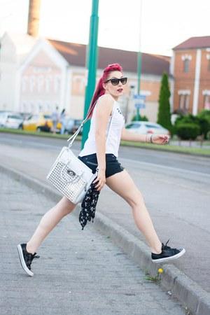 Michael Kors bag - Ray Ban sunglasses - romwe top