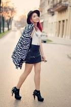 Choies hat - Choies blazer - Choies skirt