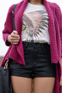 Choies-boots-persunmall-bag-choies-shorts-romwe-sweatshirt