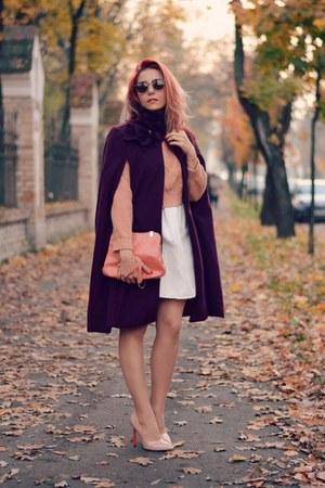 BADstyle cape - Choies dress - romwe sweater - Ray Ban sunglasses