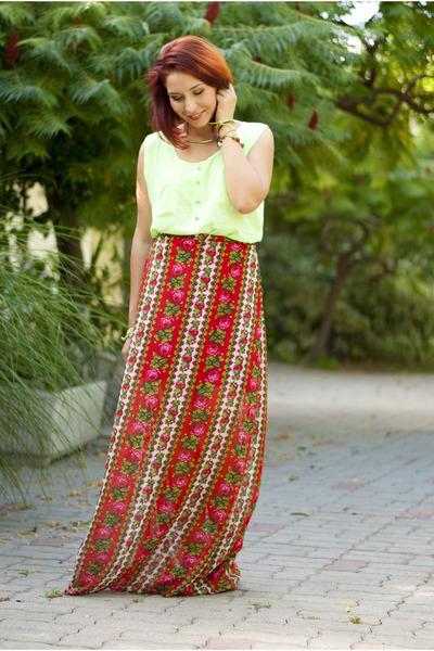 flower printed BAD style skirt