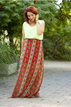 flower printed BAD style skirt