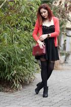 calvin klein watch - Topshop boots - romwe dress - Choies bag