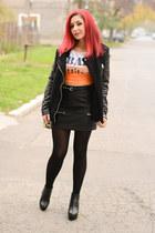 Choies skirt - Mart of China boots - Choies jacket