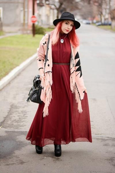 Choies dress - Choies hair accessory - Choies cardigan
