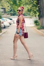 romwe shirt - Choies bag - Diesel shorts - Ray Ban sunglasses