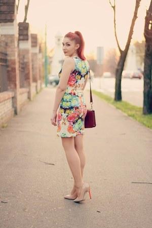Choies dress - Choies bag - romwe cardigan