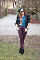 calvin klein watch - BADstyle boots - ray-ban sunglasses - Kiaari top
