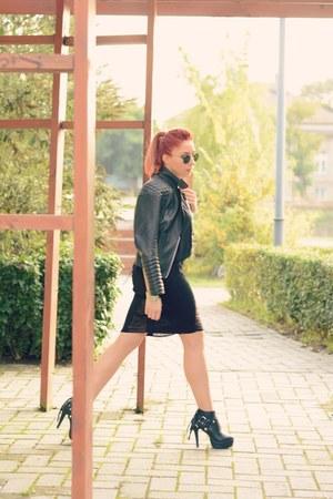 Choies skirt - BADstyle jacket - romwe top