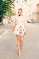 romwe skirt - Mart of China dress - PERSUNMALL necklace - Mart of China pumps
