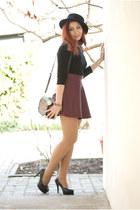 romwe skirt - romwe hat - BAD style top