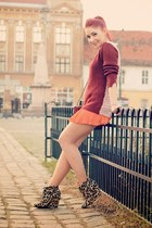 romwe sweater - Choies bag - BADstyle skirt