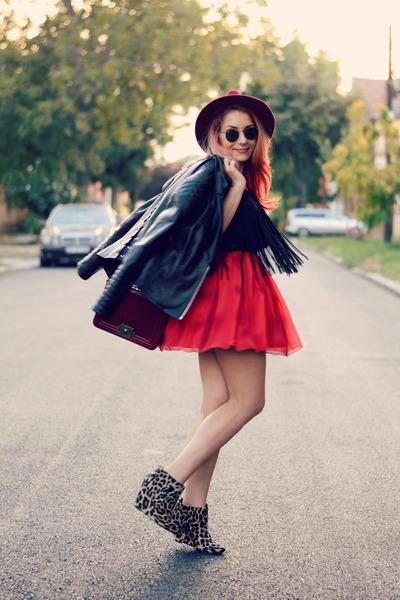 Choies hat - BADstyle jacket - Choies bag - romwe top