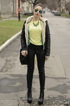 Rosewholesale necklace - Mart of China boots - Choies jacket - PERSUNMALL bag