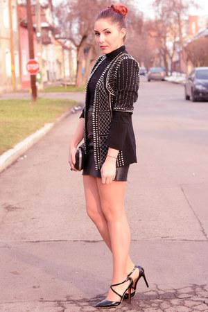 Choies blazer - BADstyle skirt - martofchiina heels