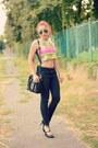 Choies-shoes-zara-jeans-ray-ban-sunglasses-romwe-top-michael-kors-watch