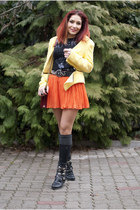 BAD style t-shirt - stone creek boots - Choies bag - BAD style skirt