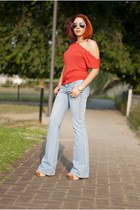 Michael Kors watch - H&M jeans - Ray Ban sunglasses
