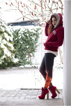 abercrombie and fitch hoodie - asos boots - romwe leggings - BAD style jumper