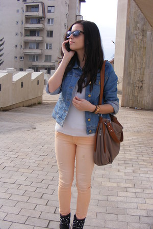 H&M jeans - CCC boots - H&M jacket - Orsay blouse - Fossil watch