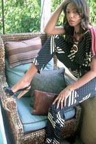 geometric print vintage jumper