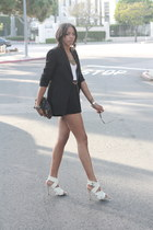 black Zara blazer - black f21 shorts