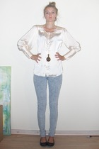 Vila shirt - jeans - Stine Goya necklace - H&M shoes