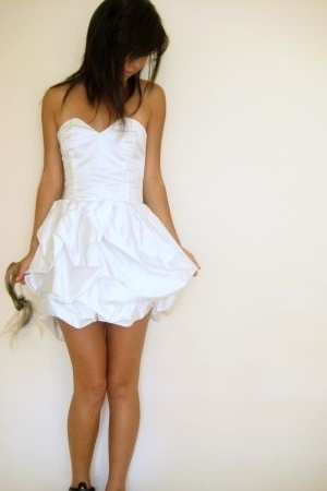 white Harry Highpants dress - black shoes