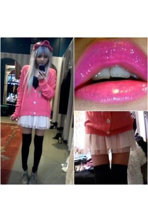 light pink tutu Forever21 shirt - mustard leopard print Marshalls boots