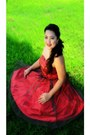 Red-custom-made-dress-red-janilyn-heels