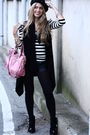 Balmain-boots-zara-pants-balengiaga-bag-morgan-shirt