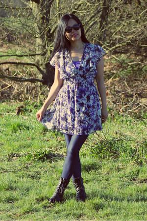 floral Hooch dress - new look leggings