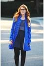 Mustard-candies-boots-blue-coat-black-tights-navy-polka-dot-blouse