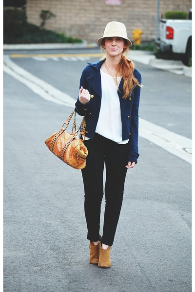 black Sanctuary leggings - camel Candies boots - navy Kimchi Blue jacket
