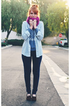 cowl scarf - moccasins Minnetonka flats