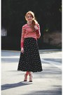 Striped-sweater-skirt-vintage-necklace