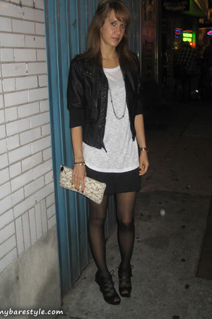 forever 21 shirt - forever 21 skirt - Wet Seal jacket - GoJane shoes - vintage p
