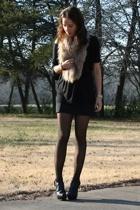 forever 21 shirt - forever 21 skirt - vintage scarf - GoJane shoes