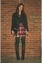 jacket - H&M dress - Guess boots - vintage purse